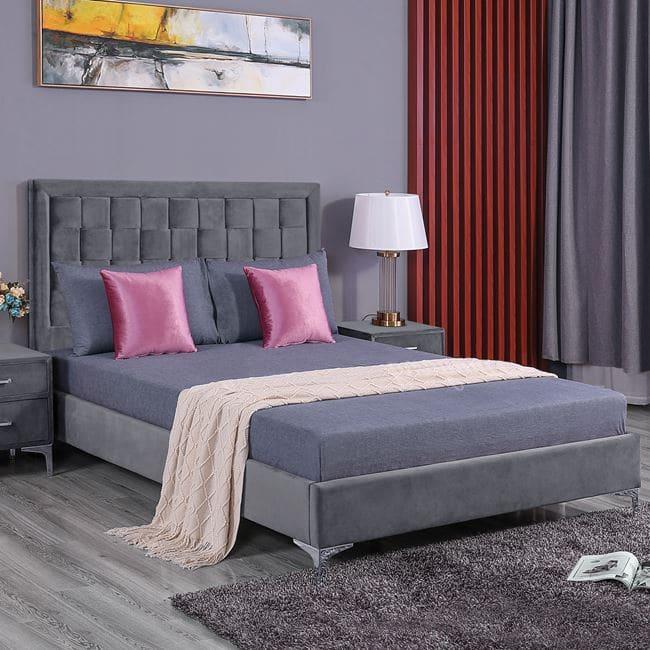 Κρεβάτι Montpellier 150Χ200 Grey HM592.01 Διπλό