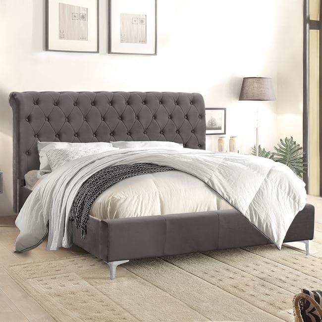 Κρεβάτι Queen HM365.20 150Χ200 Grey 160Χ219Χ94Υεκ. Διπλό