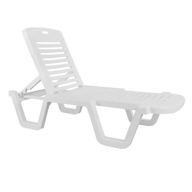 Ξαπλώστρα Παραλίας White Relax 70x190x36Υ εκ.