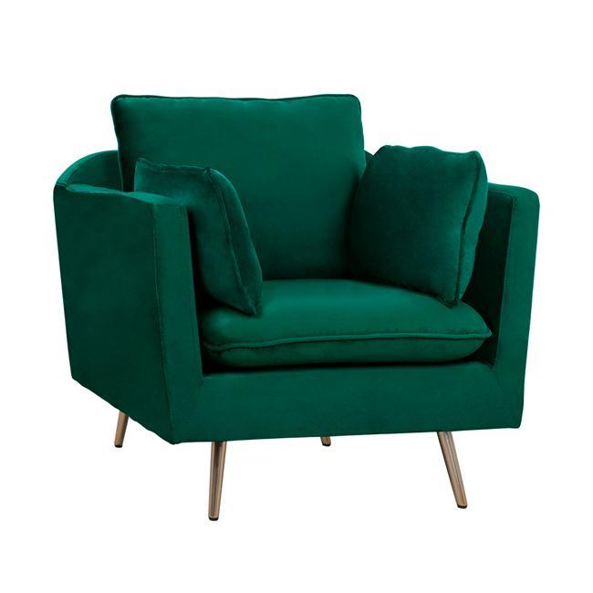 Πολυθρόνα-Μπερζέρα Karen Dark Green HM3136.13