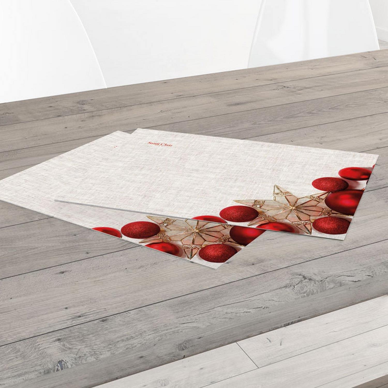 Σουπλά 3012 Grey-Red Saint Clair 33x45cm