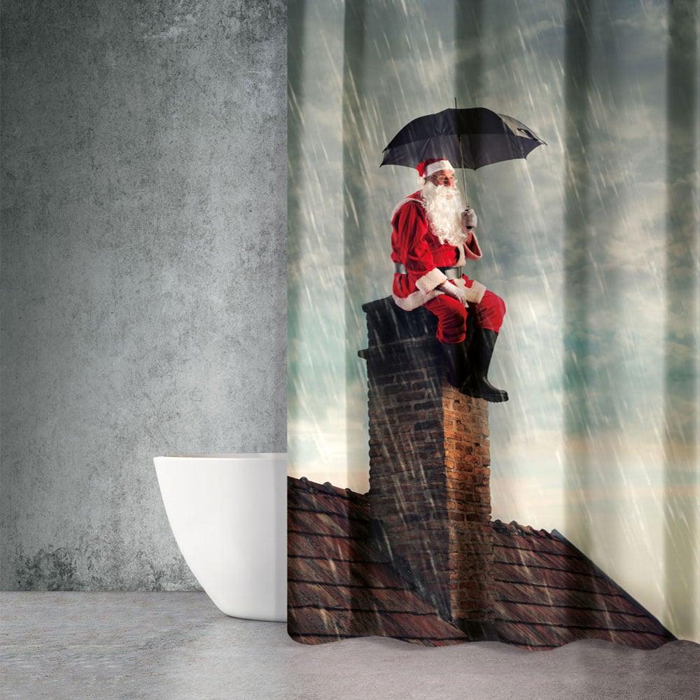 Κουρτίνα Μπάνιου Christmas 401 Saint Clair Φάρδος 180cm 180x200cm