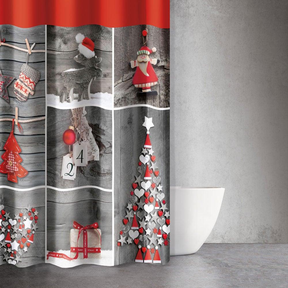 Κουρτίνα Μπάνιου Christmas 403 Saint Clair Φάρδος 180cm 180x200cm