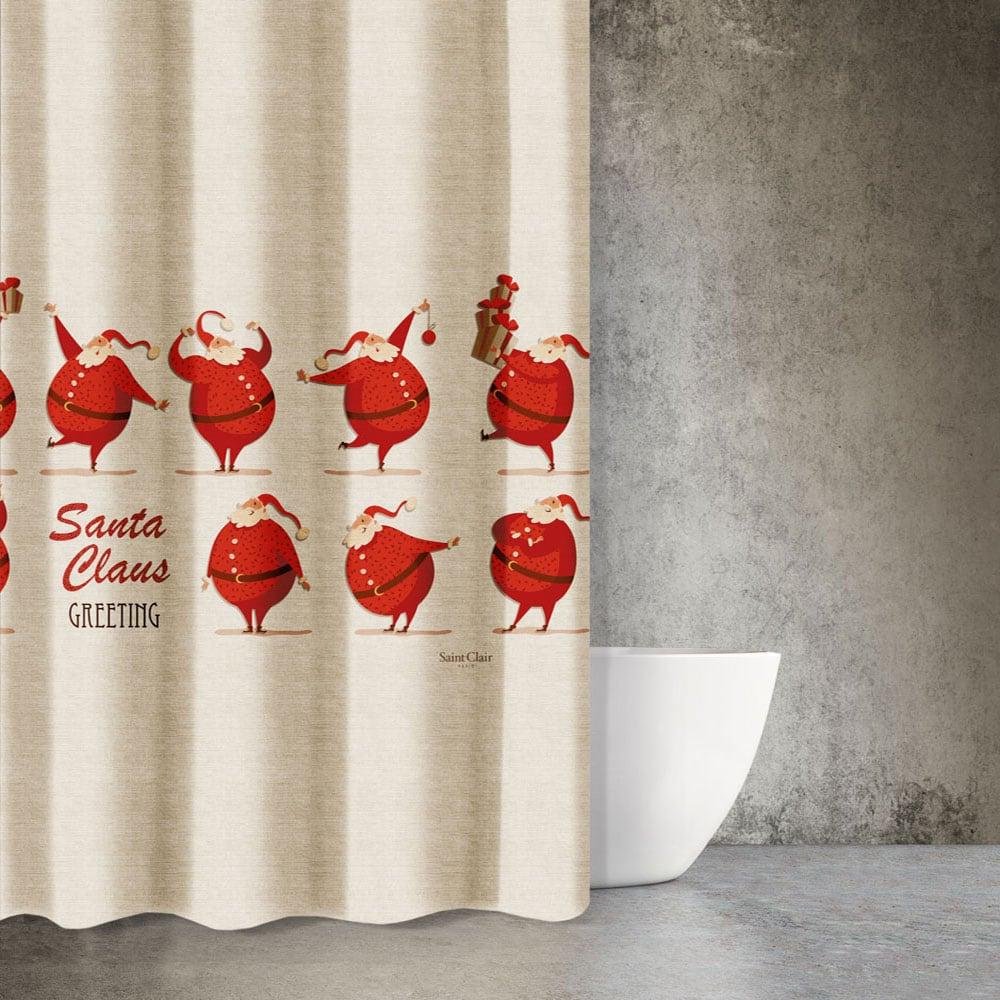 Κουρτίνα Μπάνιου Christmas 404 Saint Clair Φάρδος 180cm 180x200cm