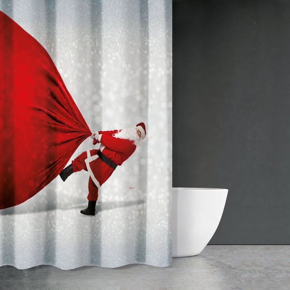 Κουρτίνα Μπάνιου Christmas 409 Saint Clair Φάρδος 180cm 180x200cm