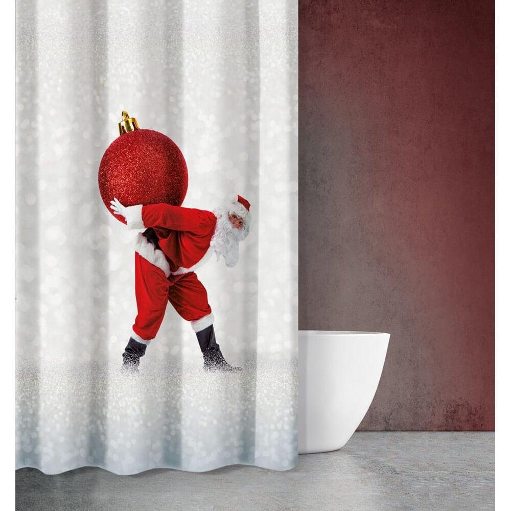 Κουρτίνα Μπάνιου Christmas 410 Saint Clair Φάρδος 180cm 180x200cm