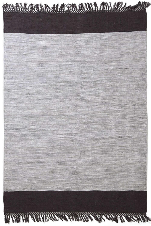 Χαλί Urban Cotton Kilim Flitter Black Royal Carpet 70X150