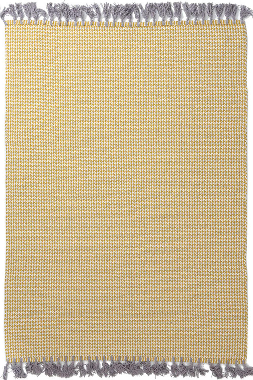Χαλί Urban Cotton Kilim Houndstooth Yellow Royal Carpet 70X150