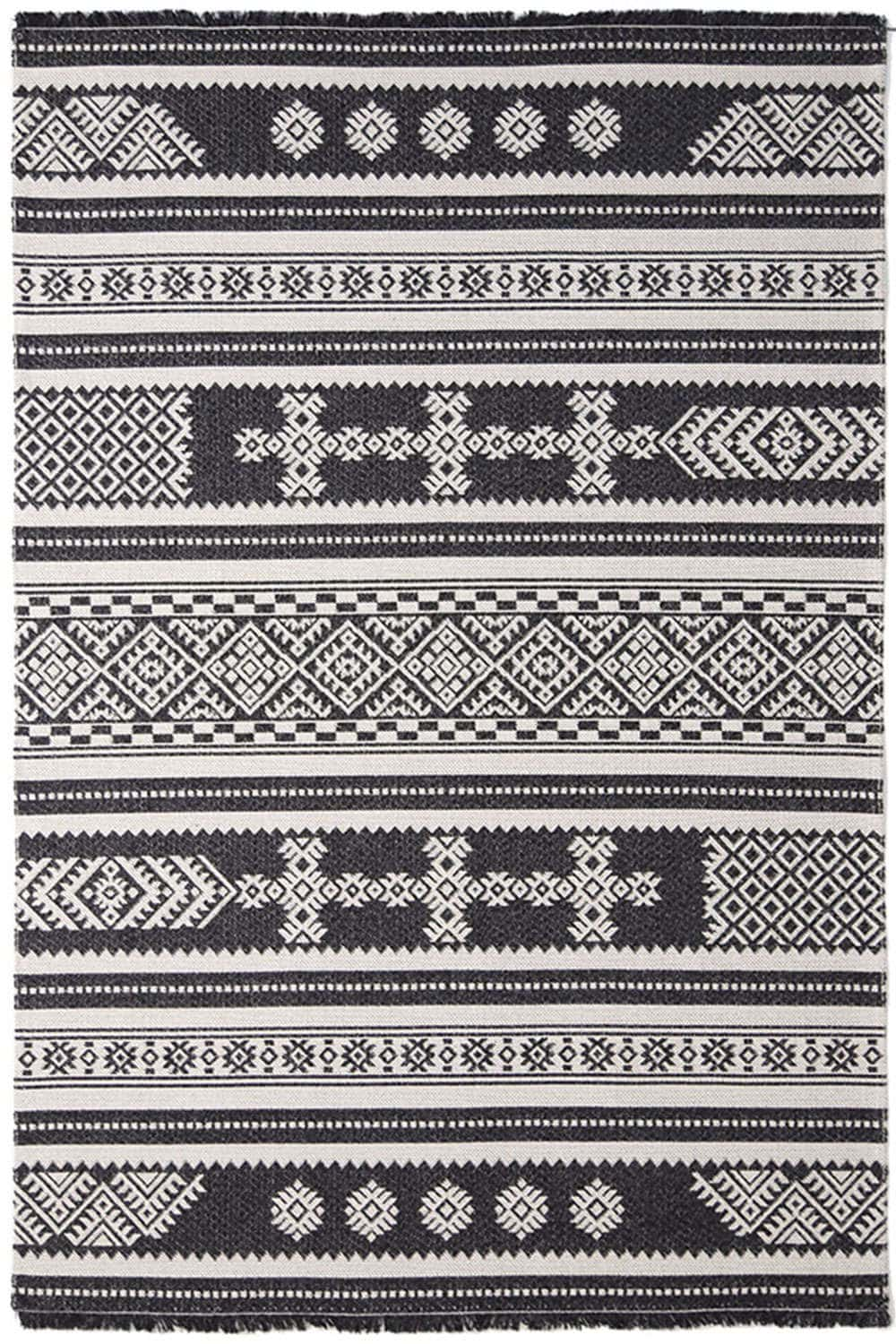 Χαλί Casa Cotton 22095 Black Royal Carpet 70X150