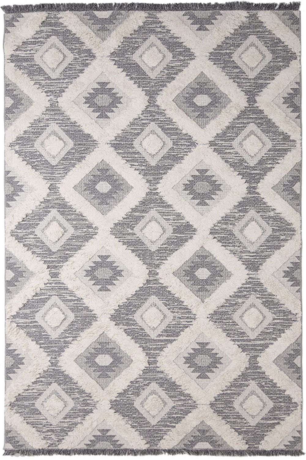 Χαλί Casa Cotton 22266 Grey-Black Royal Carpet 70X150