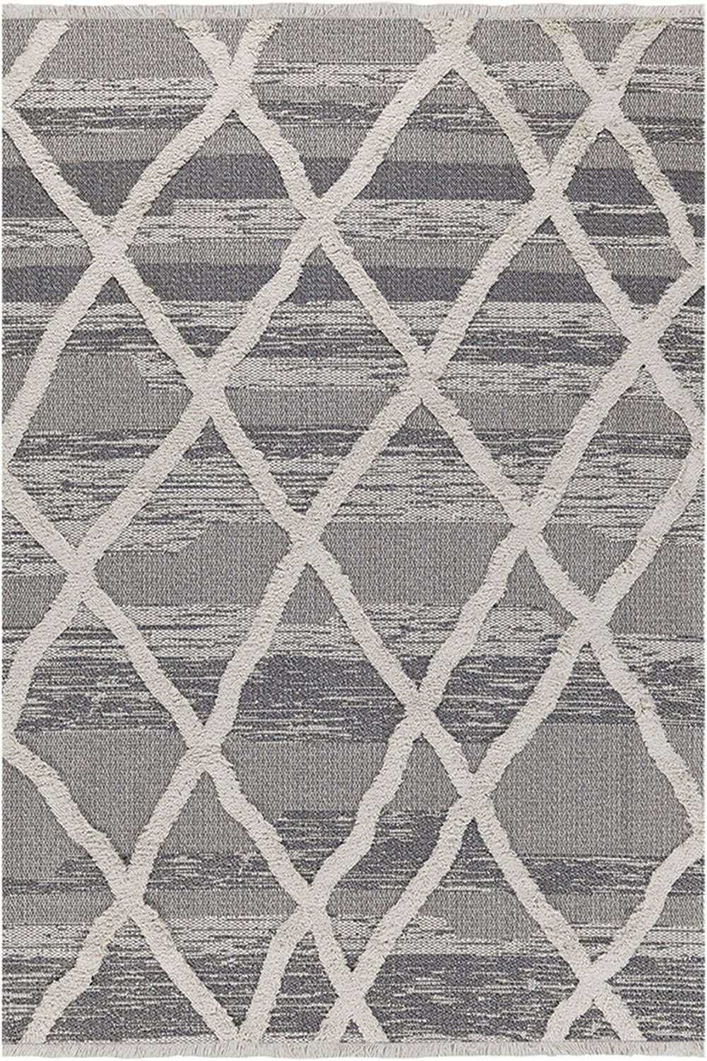 Χαλί Casa Cotton 22317 Grey-Black Royal Carpet 70X220