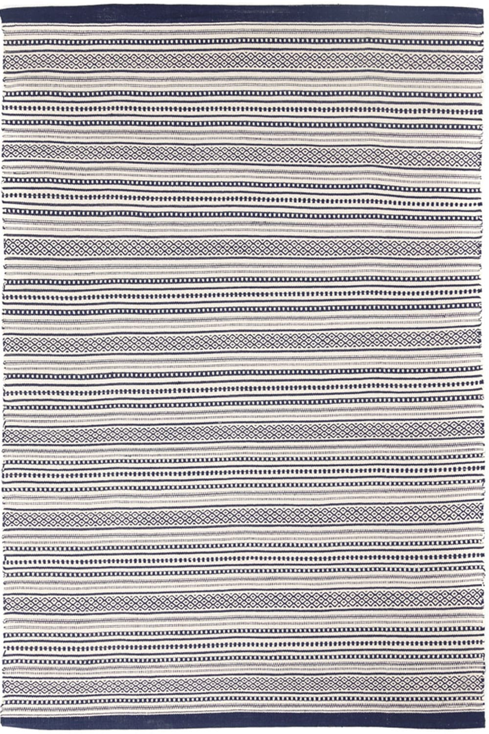 Χαλί Urban Cotton Kilim Titan Iris White-Blue Royal Carpet 160X230