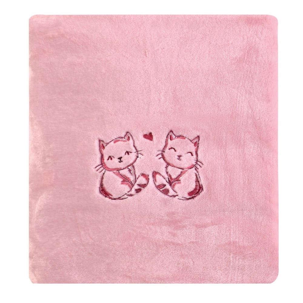 Κουβέρτα Βρεφική Αγκαλιάς Marrie Velour Fleece Salmon Pink Kentia Αγκαλιάς 80x110cm
