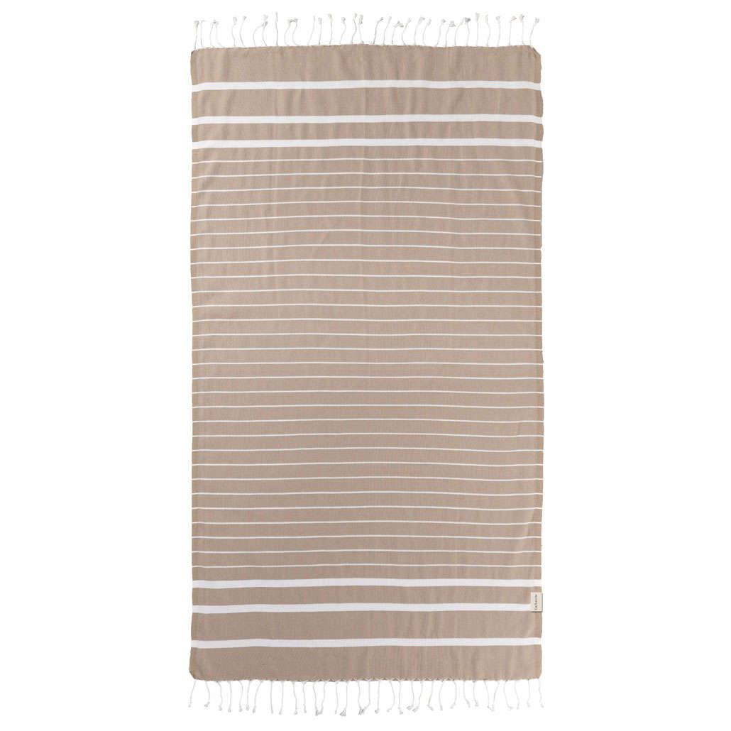 Πετσέτα Θαλάσσης Pestemal 10 Beige Guy Laroche Θαλάσσης 90x170cm
