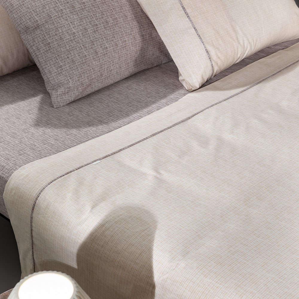 Σεντόνια Molly Beige-Grey Σετ 4Τεμ. Guy Laroche Υπέρδιπλo 240x260cm