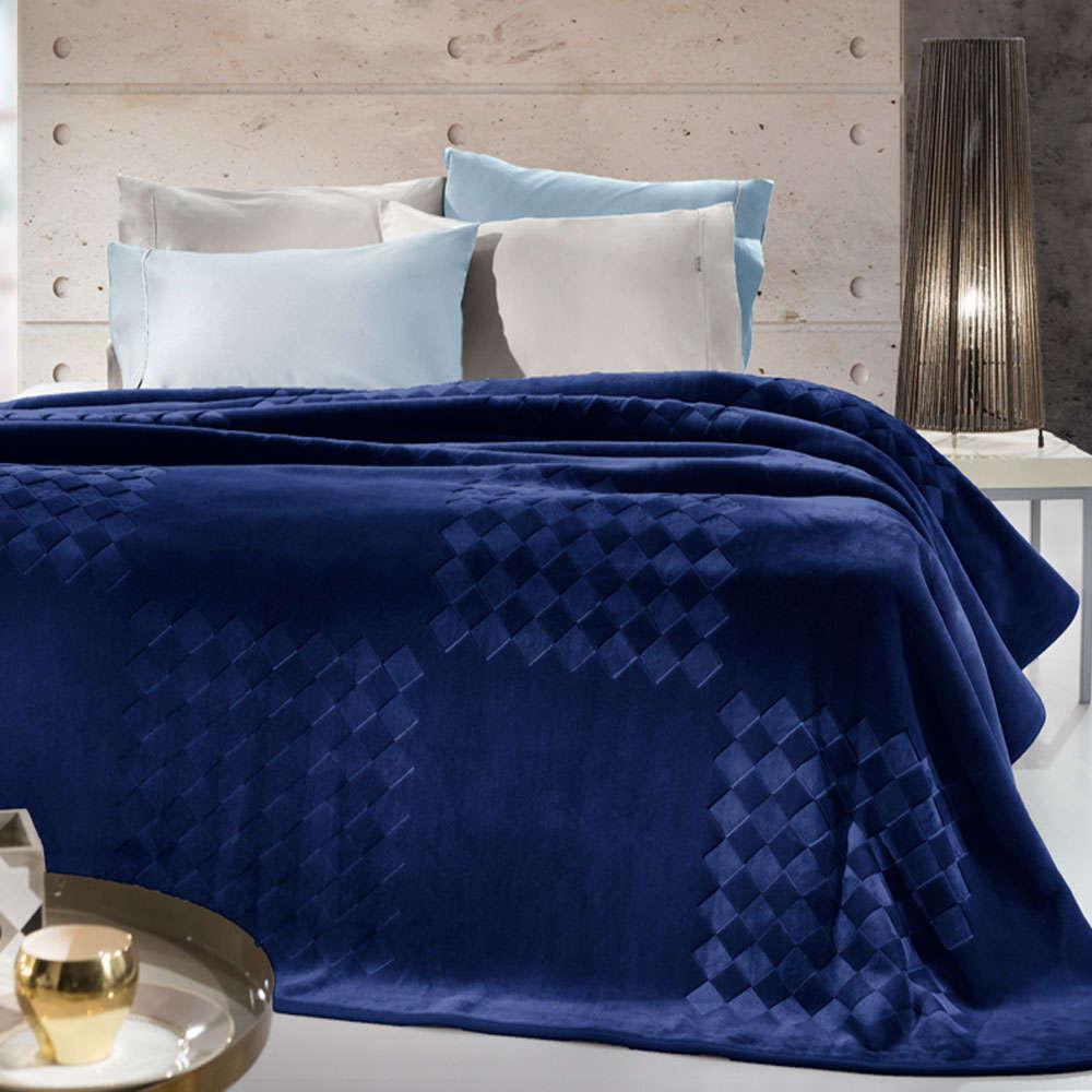 Κουβέρτα Grand Navy Blue Guy Laroche Υπέρδιπλo 220x240cm