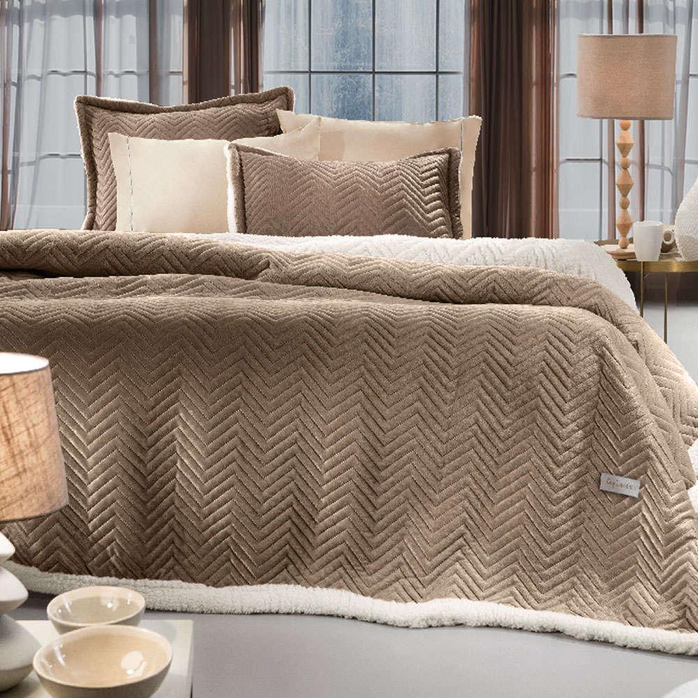 Κουβέρτα Velluto Camel Guy Laroche Μονό 160x220cm