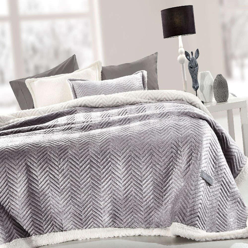 Κουβέρτα Velluto Silver Guy Laroche Μονό 160x220cm