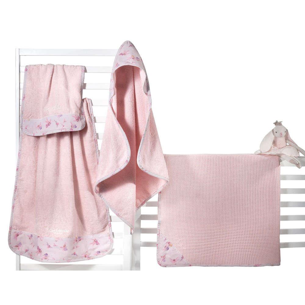 Πετσέτα Βρεφική Σετ 2τμχ Fairy Pink Guy Laroche Σετ Πετσέτες