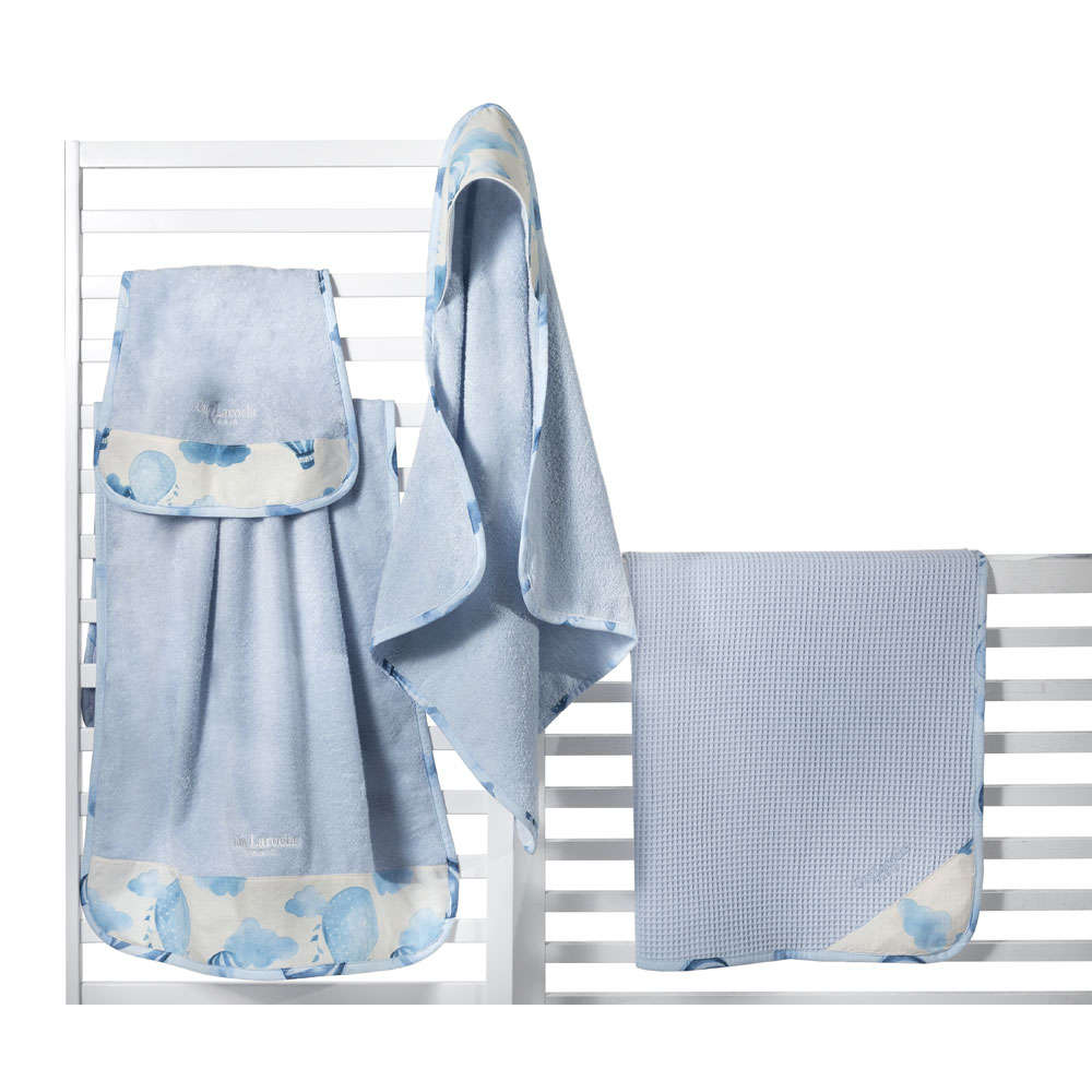 Πετσέτα Βρεφική Σετ 2τμχ Dream Light Blue Guy Laroche Σετ Πετσέτες