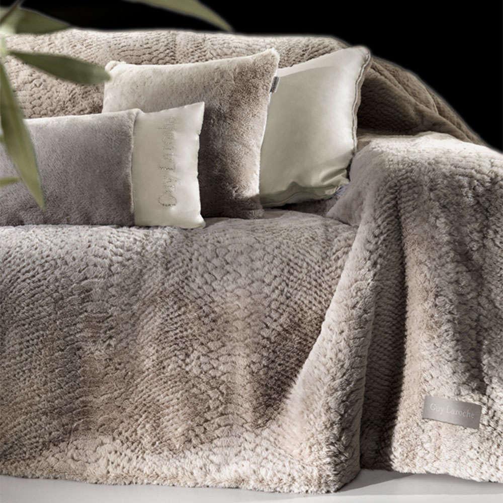 Κουβέρτα Καναπέ Σετ Με Διακοσμητική Μαξιλαροθήκη Crusty Mink Guy Laroche 150X180 130x170cm