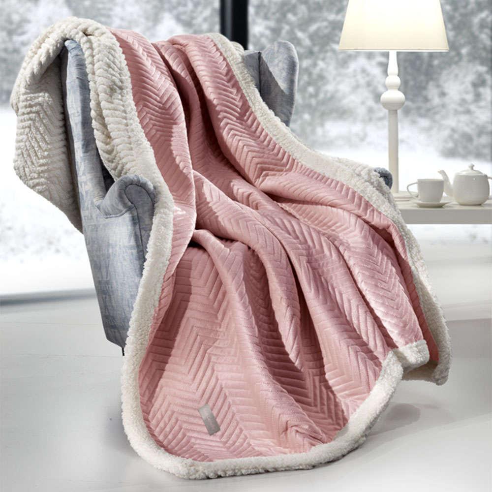 Κουβέρτα Καναπέ Σετ Με Διακοσμητική Μαξιλαροθήκη Velluto Opal Guy Laroche 150X180 130x170cm