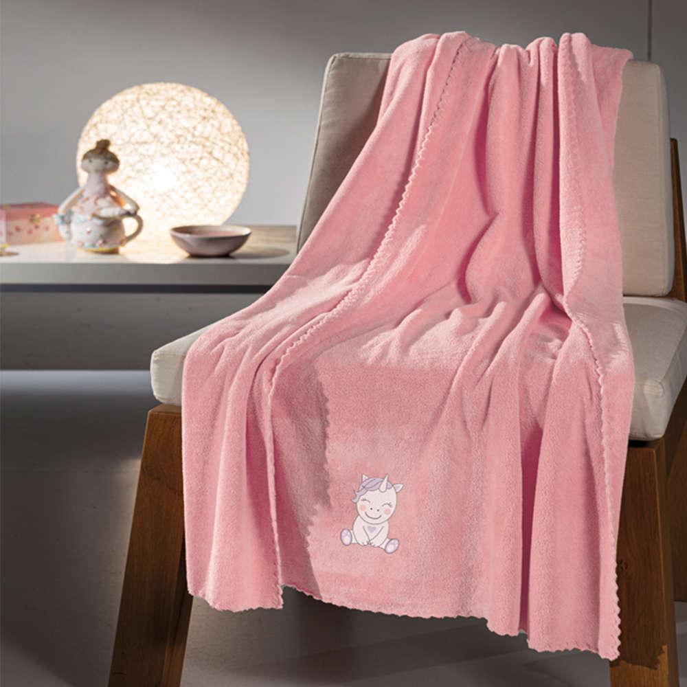 Κουβέρτα Βρεφική Mythical Pink Guy Laroche Κούνιας 100x140cm