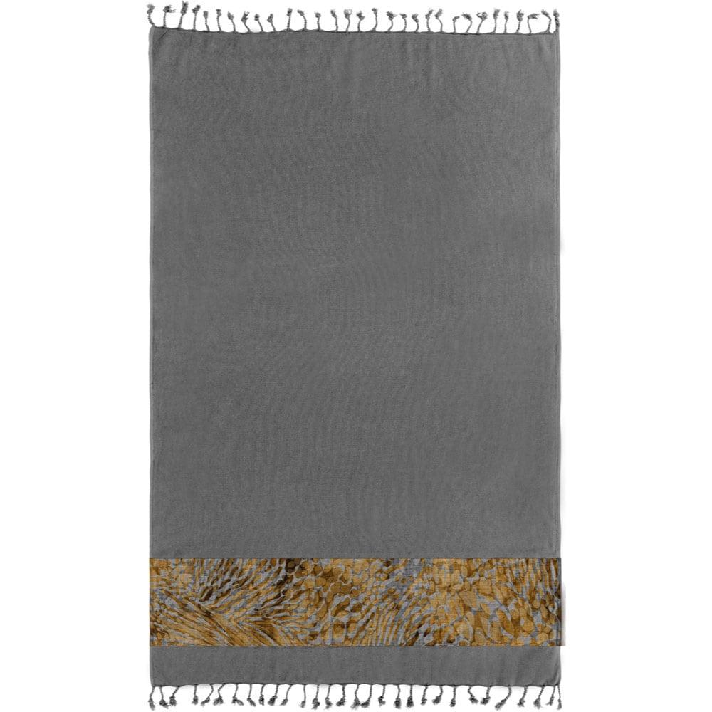 Πετσέτα Θαλάσσης Pestemal 11 Anthracite Guy Laroche Θαλάσσης 90x170cm