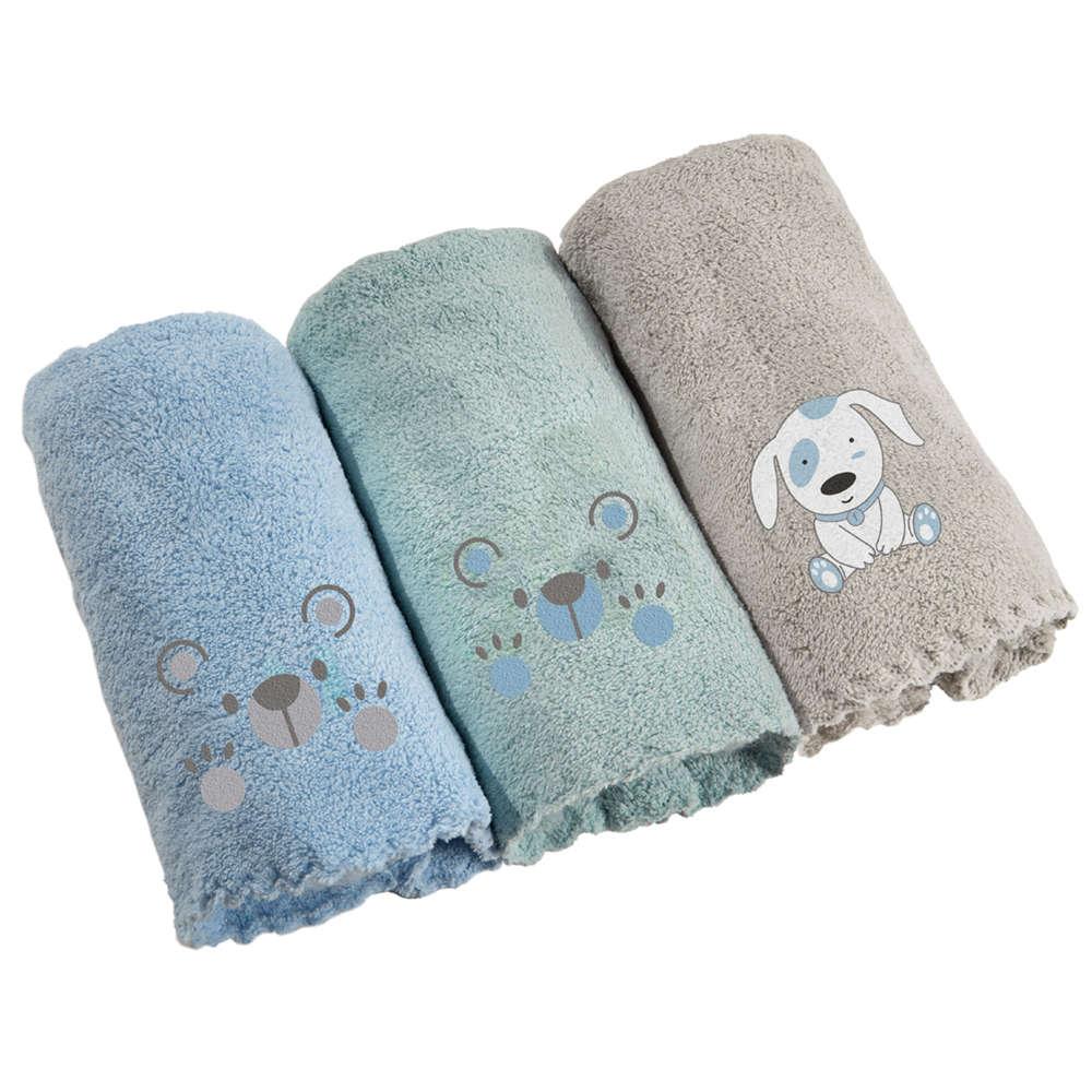 Πετσέτες Βρεφικές Σετ 3τμχ Baby Boy Multi Guy Laroche Σετ Πετσέτες 40x60cm