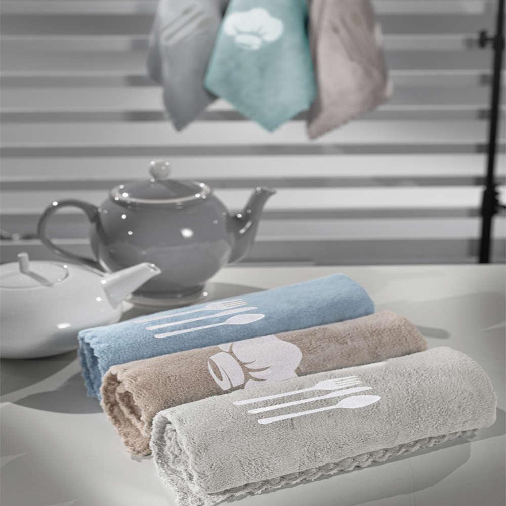 Πετσέτες Κουζίνας Σετ 3τμχ Gourmet Kitchen Set 3 Mint-Blue Guy Laroche 40x60cm
