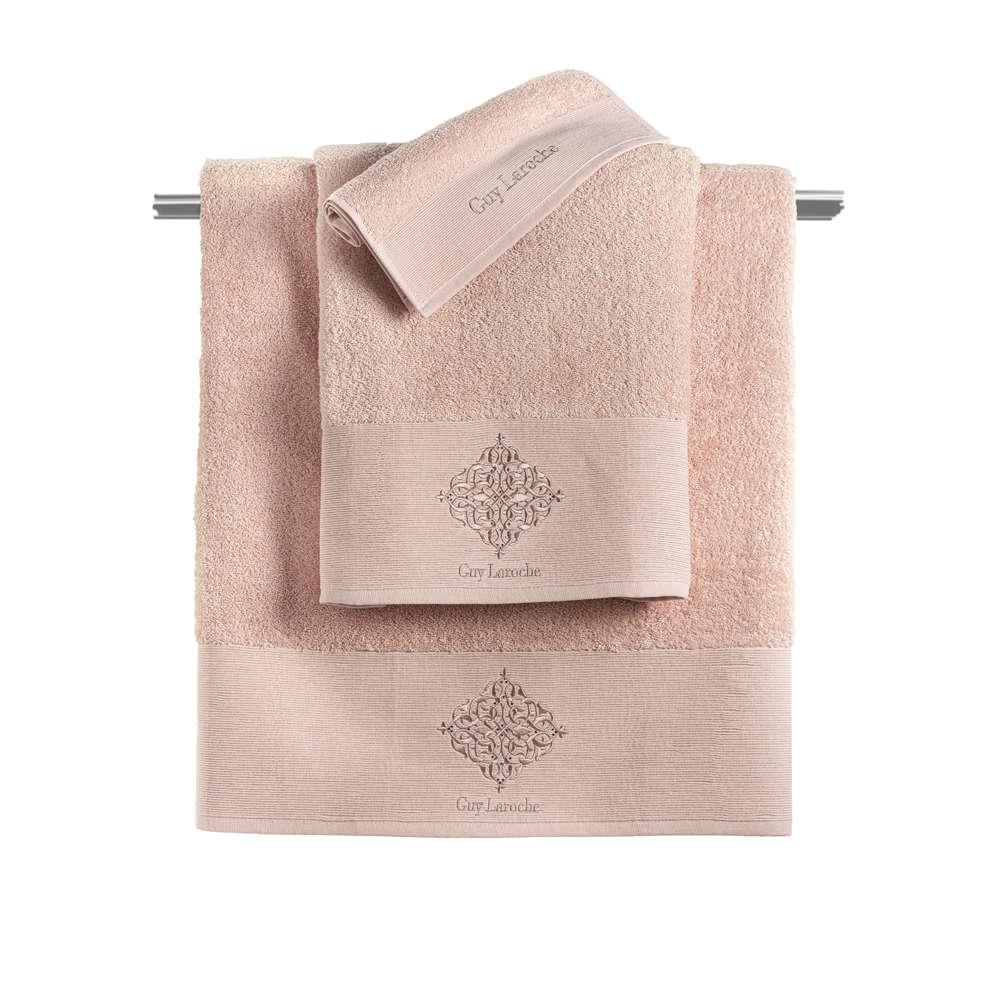 Πετσέτες Σετ 3τμχ Callista Old Pink Guy Laroche Σετ Πετσέτες