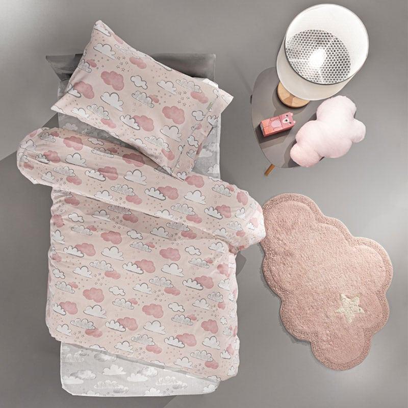 Κουβερλί Παιδικό Cloudy Pinky Guy Laroche Μονό