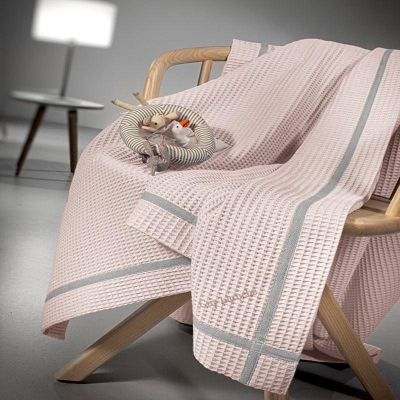 Κουβέρτα Βρεφική Πικέ Mood Pinky Guy Laroche Κούνιας