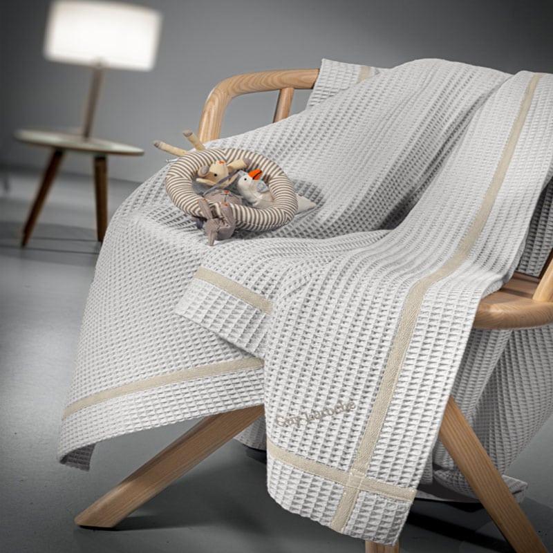 Κουβέρτα Βρεφική Πικέ Mood Silver Guy Laroche Κούνιας