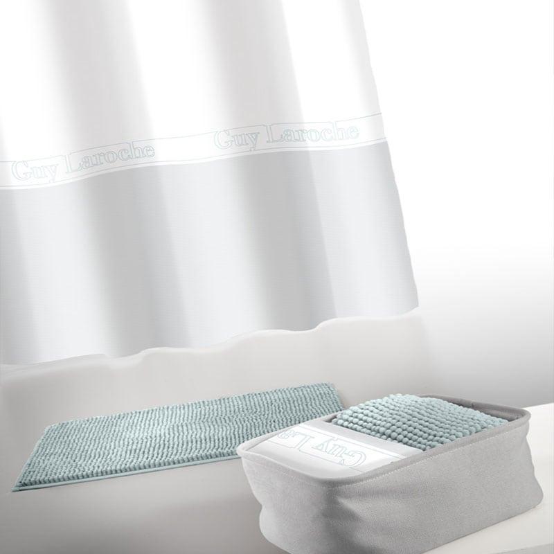 Κουρτίνα Με Πατάκι Μπάνιου Miami Σετ 4τμχ Aqua Guy Laroche Φάρδος 180cm