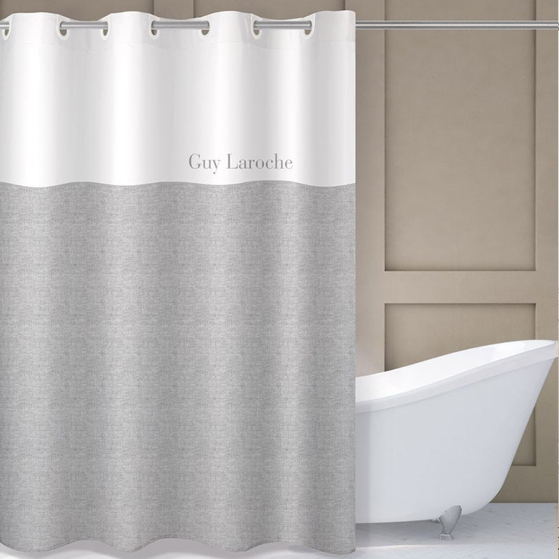 Κουρτίνα Μπάνιου Finesse Grey Guy Laroche Φάρδος 180cm