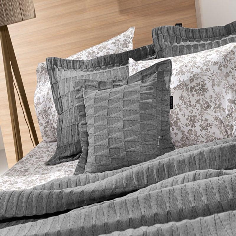 Μαξιλάρι Διακοσμητικό (Με Γέμιση) Palmyra Anthracite Guy Laroche 45X45 Βαμβάκι-Polyester
