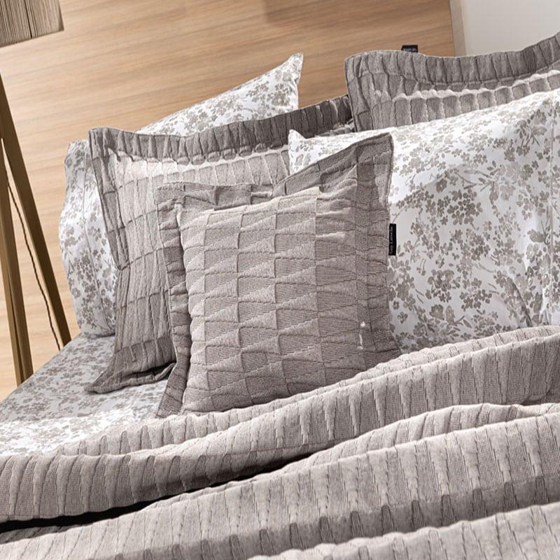 Μαξιλάρι Διακοσμητικό (Με Γέμιση) Palmyra Wenge Guy Laroche 45X45 Βαμβάκι-Polyester