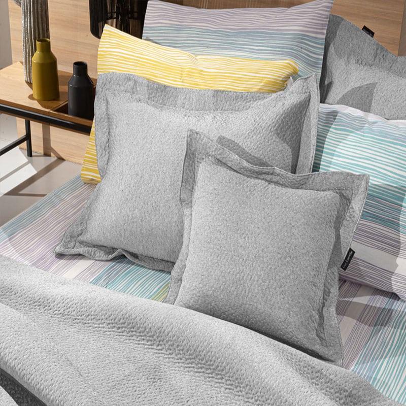 Μαξιλάρι Διακοσμητικό (Με Γέμιση) Rain Grey Guy Laroche 45X45 Βαμβάκι-Polyester