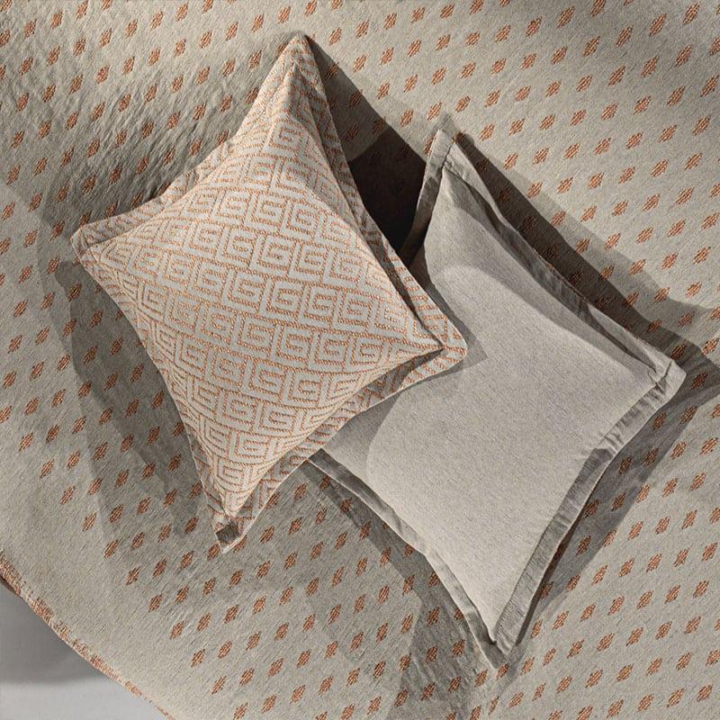 Μαξιλαροθήκη Διακοσμητική Bali Coral-Grey Guy Laroche 50X50 Βαμβάκι-Polyester