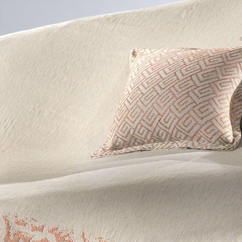 Μαξιλαροθήκη Διακοσμητική Bali Coral-Natural Guy Laroche 50X50 Βαμβάκι-Polyester