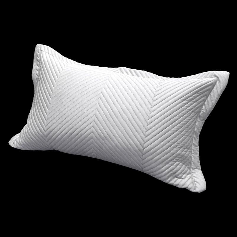 Μαξιλαροθήκη Διακοσμητική Venere Silver Guy Laroche 30Χ50 100% Microsatin
