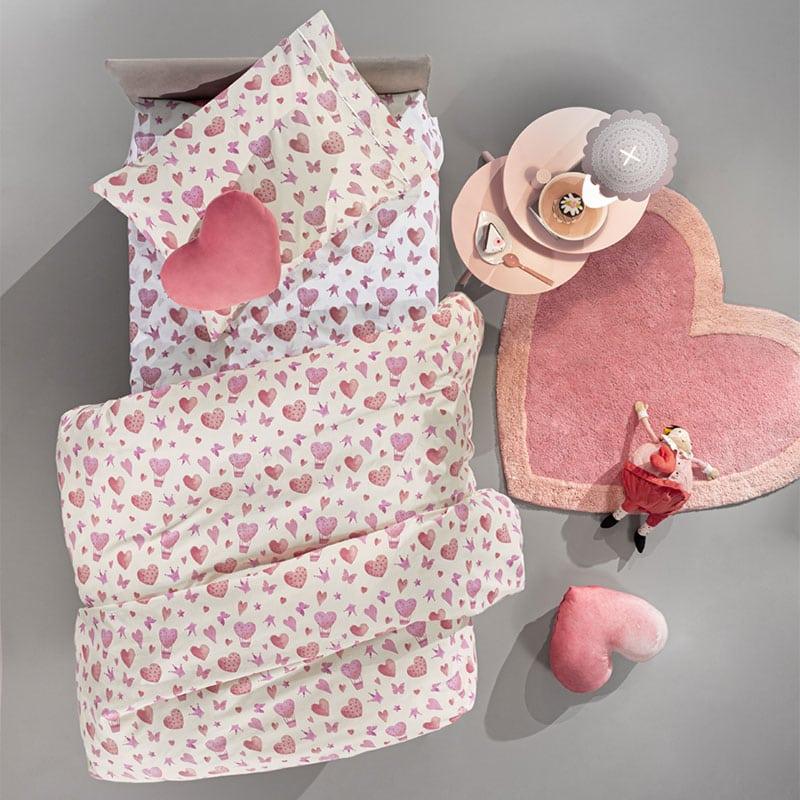 Πάπλωμα Παιδικό Sweet Heart Pink Guy Laroche Μονό