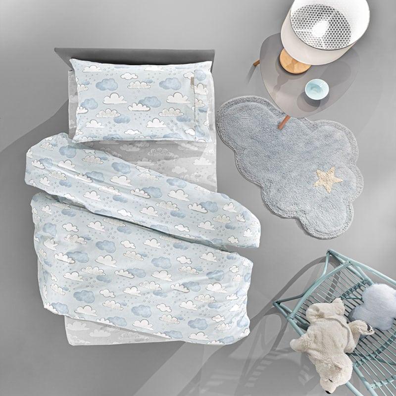 Παπλωματοθήκη Παιδική Cloudy Σετ 2τμχ Light Blue Guy Laroche Μονό