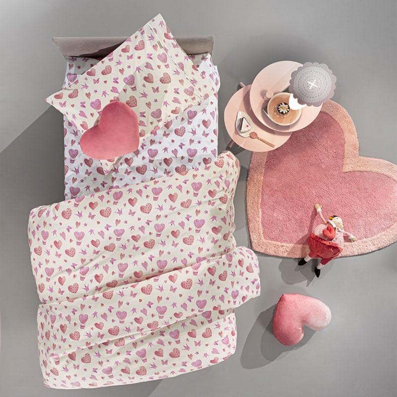 Παπλωματοθήκη Παιδική Sweet Heart Σετ 2τμχ Pink Guy Laroche Μονό