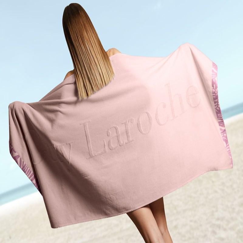 Πετσέτα Θαλάσσης Status Soft Pink Guy Laroche Θαλάσσης