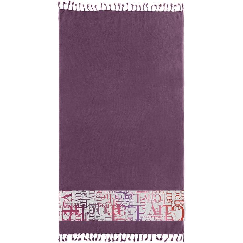 Πετσέτα Θαλάσσης Pestemal 12 Purple Guy Laroche Θαλάσσης