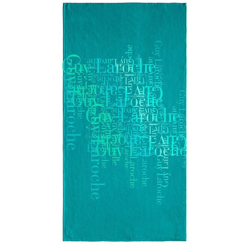 Πετσέτα Θαλάσσης Velour Printed 2103 Petrol Guy Laroche Θαλάσσης