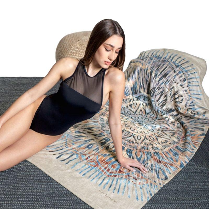 Πετσέτα Θαλάσσης Velour Printed 2105 Natural Guy Laroche Θαλάσσης