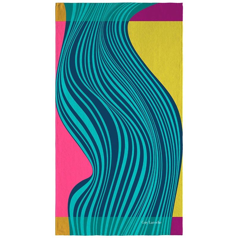 Πετσέτα Θαλάσσης Velour Printed 2106 Aqua Guy Laroche Θαλάσσης